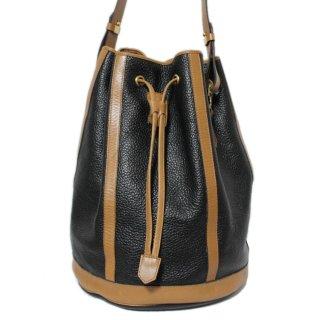 Dior ディオール ヴィンテージ<br>バイカラー巾着レザーショルダーバッグ