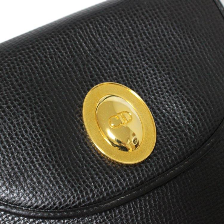Dior ディオール ヴィンテージ<br>オバールロゴ金具レザーショルダーバッグ