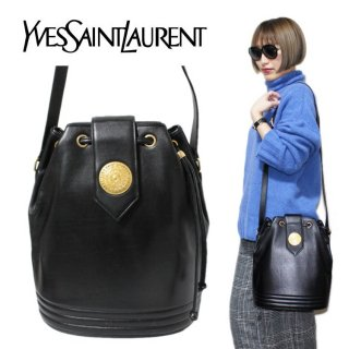 <img class='new_mark_img1' src='https://img.shop-pro.jp/img/new/icons14.gif' style='border:none;display:inline;margin:0px;padding:0px;width:auto;' />YSL イヴサンローラン ヴィンテージ<br>カーフレザー巾着ショルダーバッグ