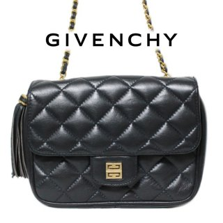 <img class='new_mark_img1' src='https://img.shop-pro.jp/img/new/icons14.gif' style='border:none;display:inline;margin:0px;padding:0px;width:auto;' />GIVENCHY ジバンシー ヴィンテージ<br>キルティングレザーミニチェーンショルダーバッグ ネイビー