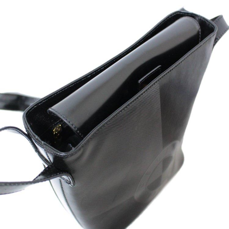 CELINE セリーヌ ヴィンテージ<br>サークルロゴ型押しショルダーバッグ