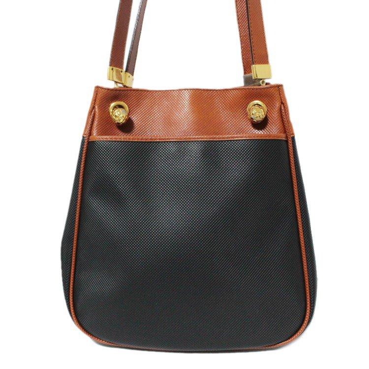 BOTTEGA VENETA ボッテガヴェネタ ヴィンテージ<br>バイカラーレザーショルダーバッグ