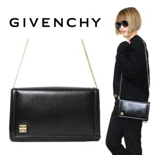 GIVENCHY ジバンシー ヴィンテージ<br>レザーチェーンショルダーバッグ