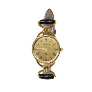 GUCCI グッチ ヴィンテージ<br>レザーベルトQZ腕時計 6000L