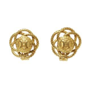 CELINE セリーヌ ヴィンテージ<br>ブラゾンデザインイヤリング