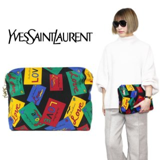 <img class='new_mark_img1' src='https://img.shop-pro.jp/img/new/icons14.gif' style='border:none;display:inline;margin:0px;padding:0px;width:auto;' />YSL イヴサンローラン ヴィンテージ<br>LOVEマルチカラークラッチバッグ