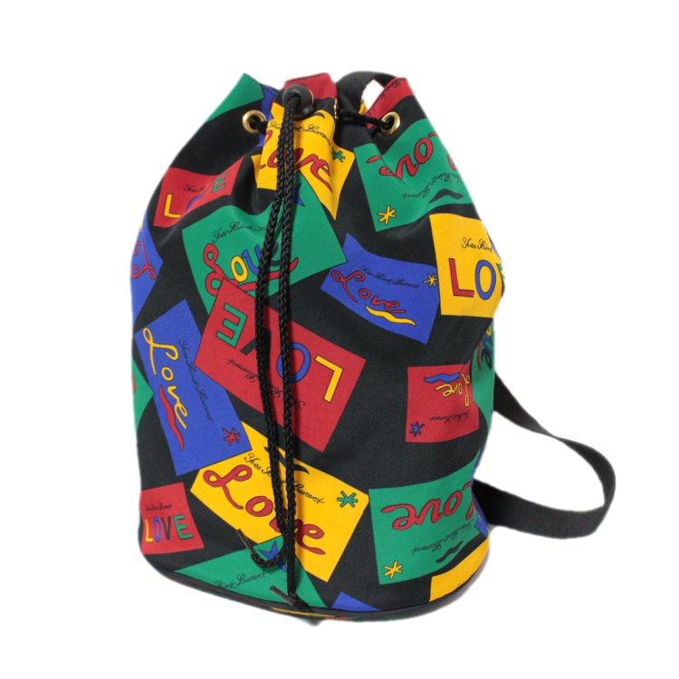YSL イヴサンローラン ヴィンテージ<br>LOVEマルチカラーワンショルダーバッグ