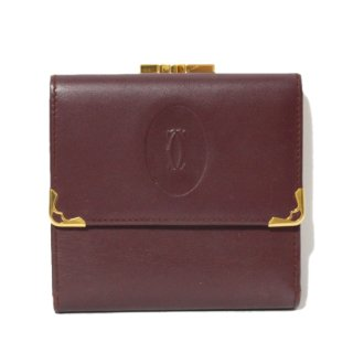 <img class='new_mark_img1' src='https://img.shop-pro.jp/img/new/icons14.gif' style='border:none;display:inline;margin:0px;padding:0px;width:auto;' />Cartier カルティエ ヴィンテージ<br>マストラインがま口二つ折り財布