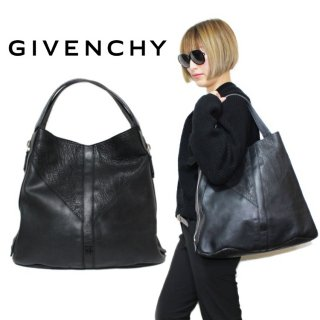 GIVENCHY ジバンシー ヴィンテージ<br>ロゴレザートートバッグ