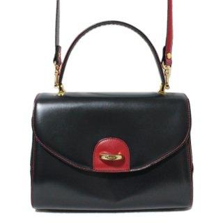 BALLY バリー ヴィンテージ<br>2WAYバイカラーレザーハンド/ショルダーバッグ