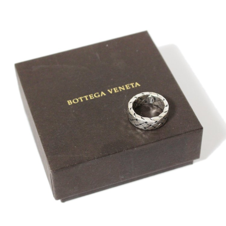 BOTTEGA VENETA ボッテガヴェネタ ヴィンテージ<br>イントレチャートシルバーリング
