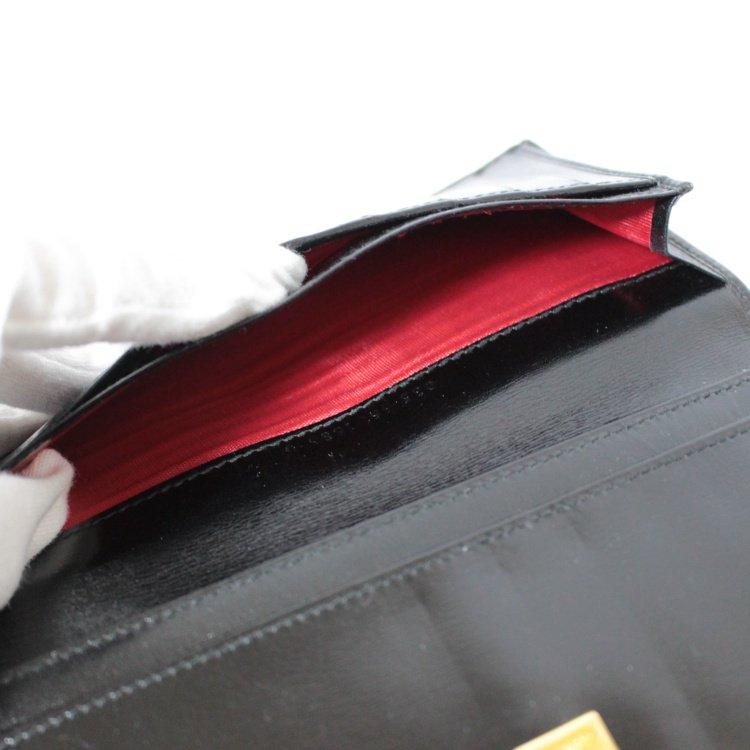 GUCCI グッチ ヴィンテージ<br>ホースシューレザー長財布