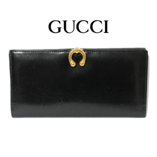 <img class='new_mark_img1' src='https://img.shop-pro.jp/img/new/icons14.gif' style='border:none;display:inline;margin:0px;padding:0px;width:auto;' />GUCCI グッチ ヴィンテージ<br>ホースシューレザー長財布