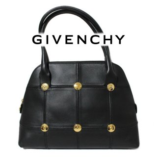 <img class='new_mark_img1' src='https://img.shop-pro.jp/img/new/icons14.gif' style='border:none;display:inline;margin:0px;padding:0px;width:auto;' />GIVENCHY ジバンシー ヴィンテージ<br>ロゴスタッズ金具レザーハンドバッグ