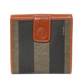 FENDI フェンディ ヴィンテージ<br>ペカン柄二つ折り財布