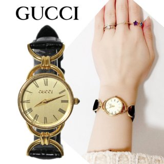 <img class='new_mark_img1' src='https://img.shop-pro.jp/img/new/icons14.gif' style='border:none;display:inline;margin:0px;padding:0px;width:auto;' />GUCCI グッチ ヴィンテージ<br>レザーベルトQZ腕時計 6000.2.L