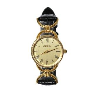 GUCCI グッチ ヴィンテージ<br>レザーベルトQZ腕時計 6000.2.L
