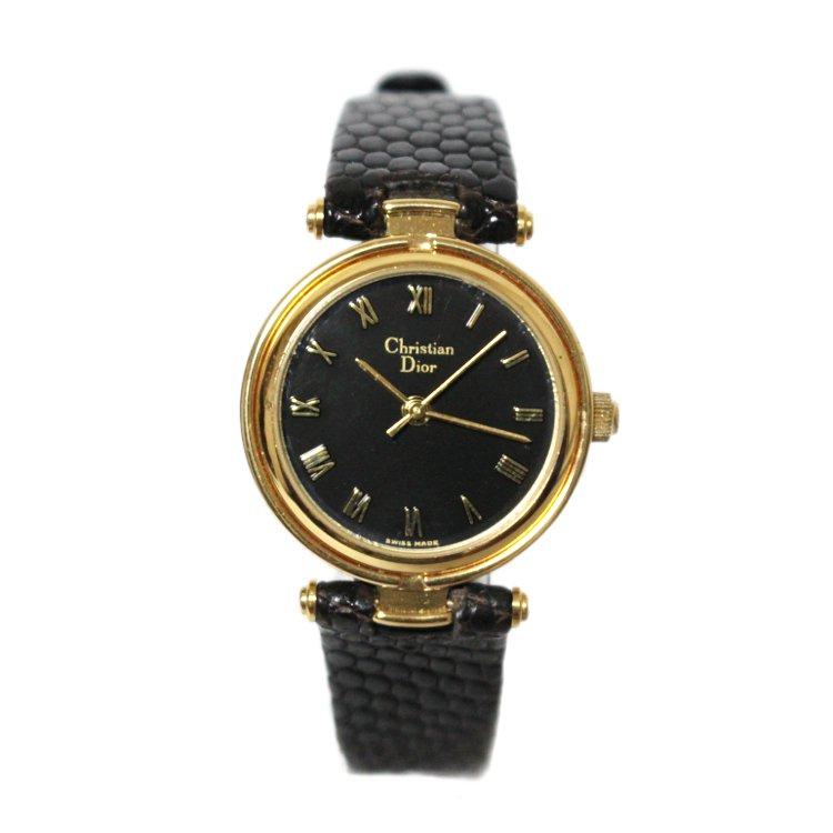 Dior ディオール ヴィンテージ<br>レザーベルトQZ腕時計
