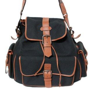 YSL イヴサンローラン ヴィンテージ<br>バイカラーキャンバス×レザーショルダーバッグ