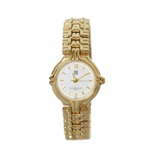 GIVENCHY ジバンシー ヴィンテージ<br>ゴールドQZ腕時計