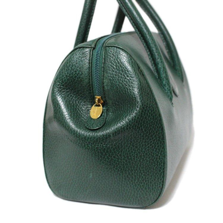 Cartier カルティエ ヴィンテージ<br>マストラインボストンハンドバッグ グリーン