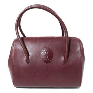 Cartier カルティエ ヴィンテージ<br>マストラインボストンハンドバッグ