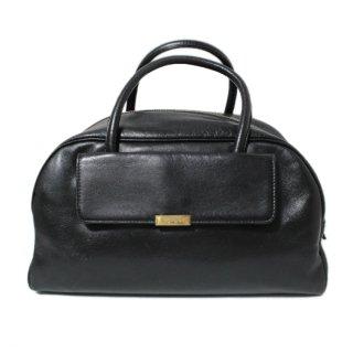 YSL イヴサンローラン ヴィンテージ<br>レザーボストンハンドバッグ