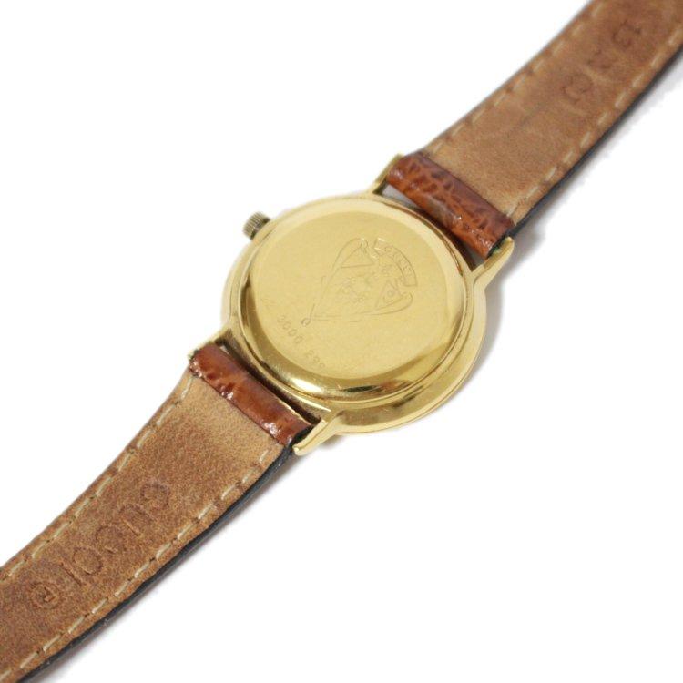 GUCCI グッチ ヴィンテージ<br>レザーベルトQZ腕時計 3000L ライトブラウン