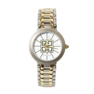 GIVENCHY ジバンシー ヴィンテージ<br>ロゴコンビカラーQZ腕時計