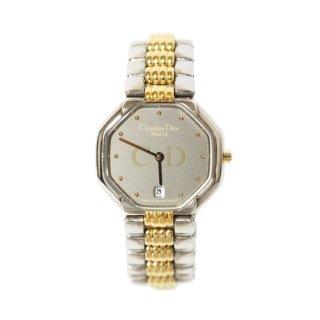 Dior ディオール ヴィンテージ<br>オクタゴンコンビカラーQZ腕時計
