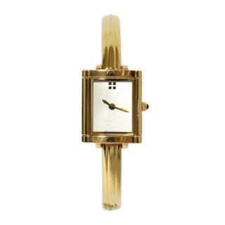 YSL イヴサンローラン ヴィンテージ<br>スクエアロゴバングルQZ腕時計