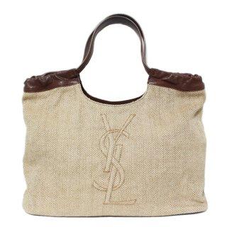 YSL イヴサンローラン ヴィンテージ<br>ロゴリネントートバッグ