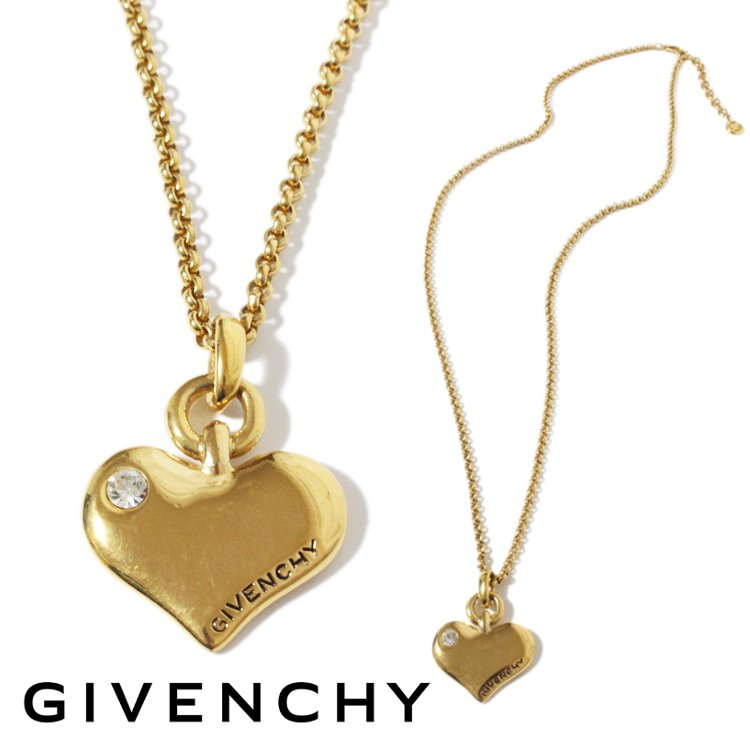 GIVENCHY ジバンシー ヴィンテージ<br>ハートモチーフネックレス