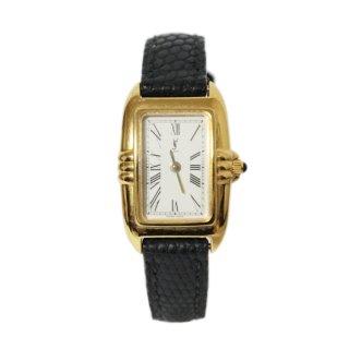 YSL イヴサンローラン ヴィンテージ<br>スクエアレザーベルトQZ腕時計