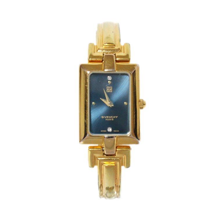 GIVENCHY ジバンシー ヴィンテージ<br>スクエアバングルQZ腕時計