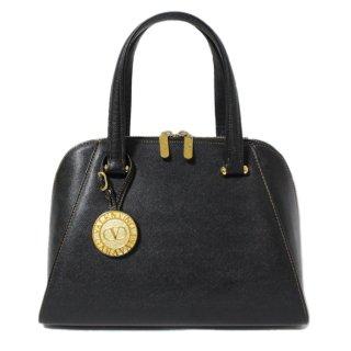 VALENTINO ヴァレンティノ ヴィンテージ<br>ロゴチャームレザーハンドバッグ