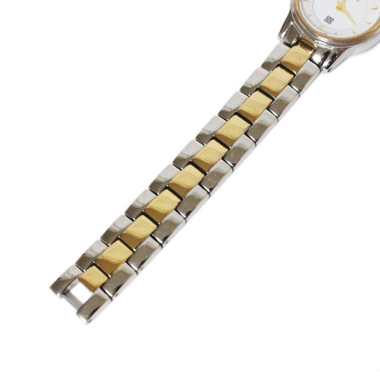 GIVENCHY ジバンシー ヴィンテージ<br>コンビカラーQZ腕時計 ホワイト