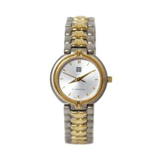 GIVENCHY ジバンシー ヴィンテージ<br>コンビカラーQZ腕時計 シルバー