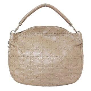 Dior ディオール ヴィンテージ<br>レザーハンドバッグ ベージュ