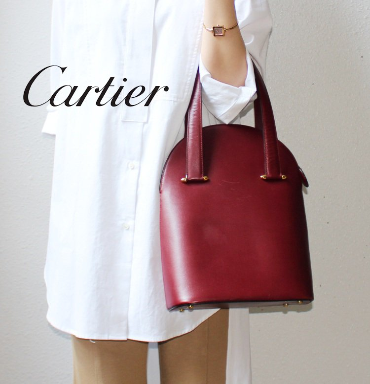Cartier カルティエ ヴィンテージ<br>マストラインハンドバッグ