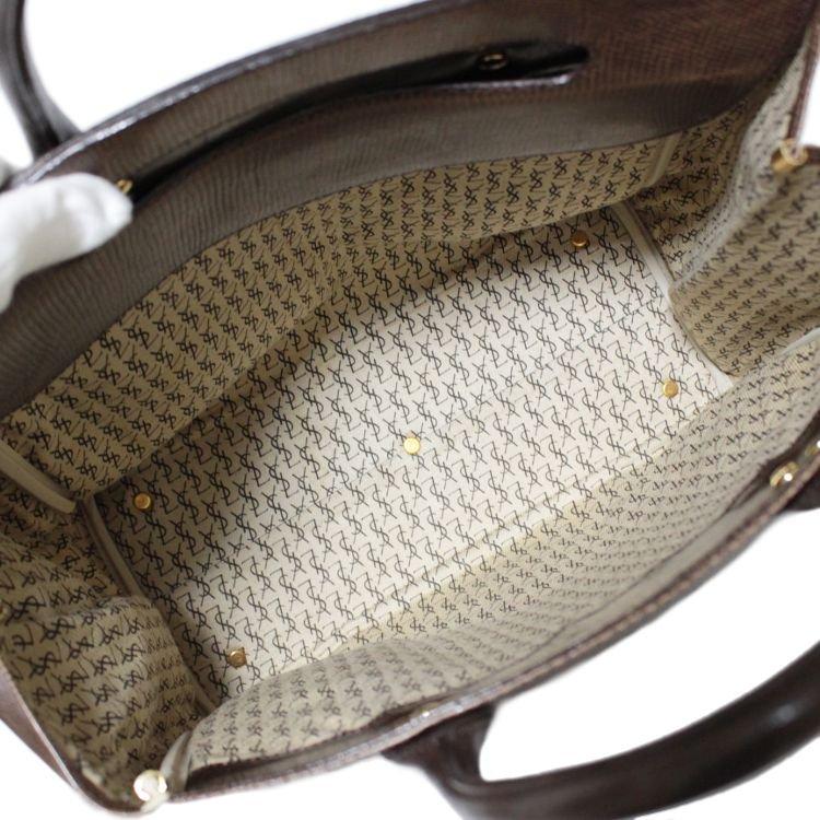 YSL イヴサンローラン ヴィンテージ<br>型押しレザーケリー型バッグ