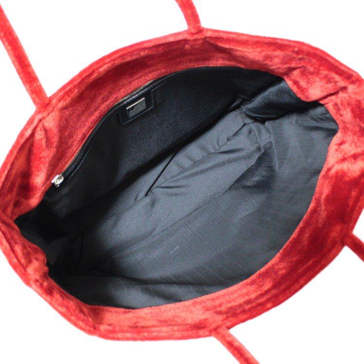 FENDI フェンディ ヴィンテージ<br>コーデュロイロゴトートバッグ