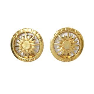 CELINE セリーヌ ヴィンテージ<br>サンモチーフロゴイヤリング