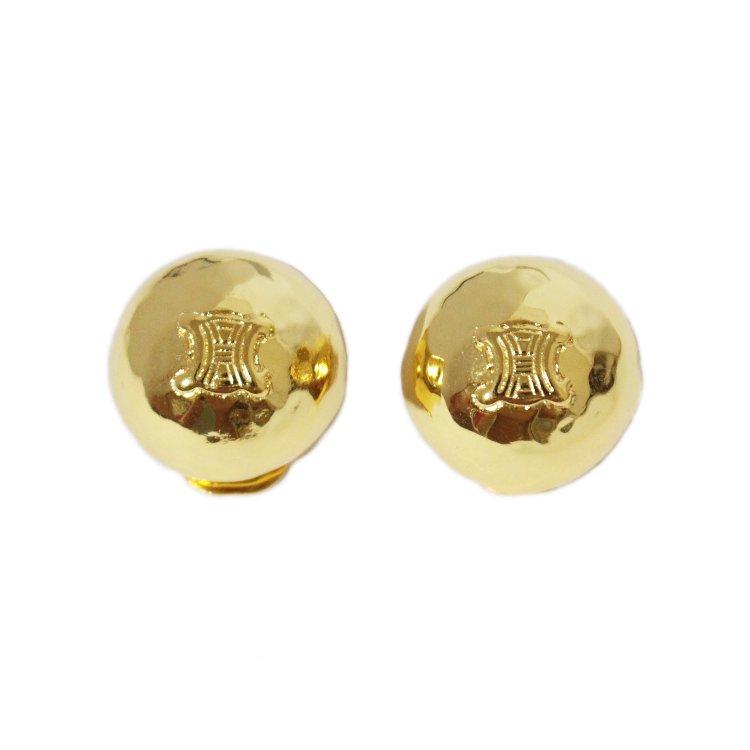 CELINE セリーヌ ヴィンテージ<br>ブラゾンサークルイヤリング