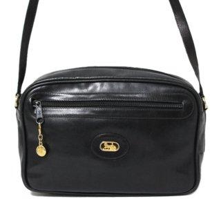 CELINE セリーヌ ヴィンテージ<br>ホースキャリッジレザーショルダーバッグ