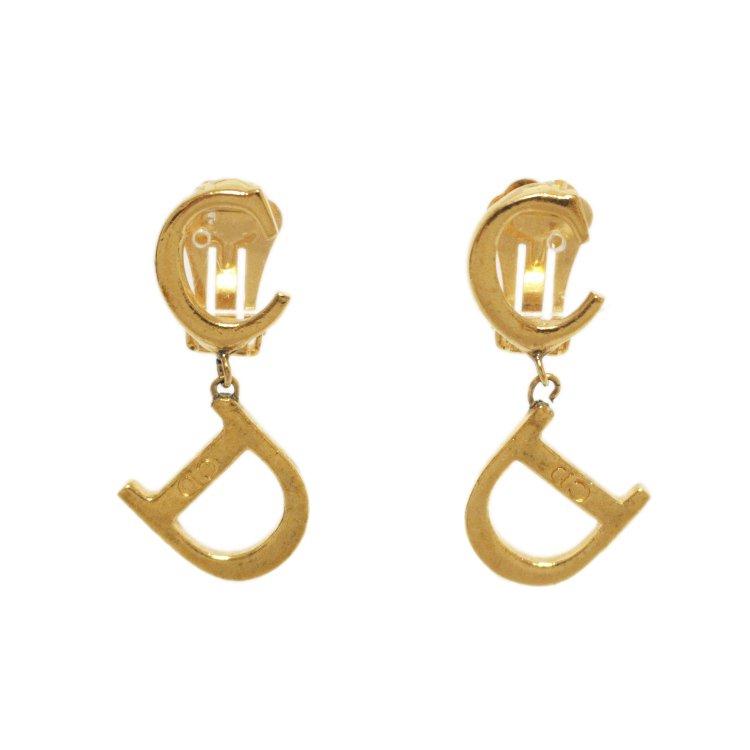 Dior ディオール ヴィンテージ<br>ロゴスウィングイヤリング