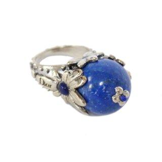Dior ディオール ヴィンテージ<br>カラーストーンリング ブルー