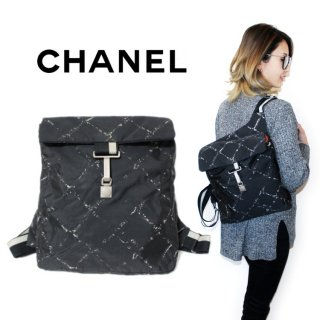 <img class='new_mark_img1' src='https://img.shop-pro.jp/img/new/icons14.gif' style='border:none;display:inline;margin:0px;padding:0px;width:auto;' />CHANEL シャネル ヴィンテージ<br>旧トラベルラインリュックサック