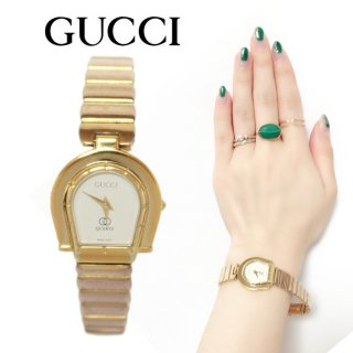 <img class='new_mark_img1' src='https://img.shop-pro.jp/img/new/icons14.gif' style='border:none;display:inline;margin:0px;padding:0px;width:auto;' />GUCCI グッチ ヴィンテージ<br>ホースシューゴールドQZ腕時計