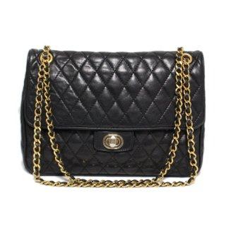 BALLY バリー ヴィンテージ<br>マトラッセキルティングレザーショルダーバッグ